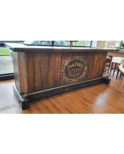 Robuuste Jack Daniel's mancave bar - 300 cm
