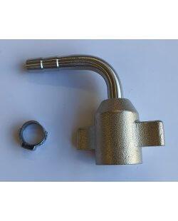 Aansluitset 3/8 gebogen tule voor 5.5 en 6 mm bierleiding