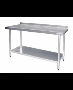 Magazijnopruiming: RVS Werktafel met achteropstand 900x600x900 mm