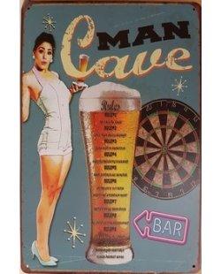 Man cave bier rules reclamebord