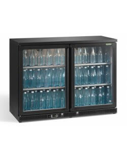 Maxiglass flessenkoeling 250L 90/91 cm- antraciet