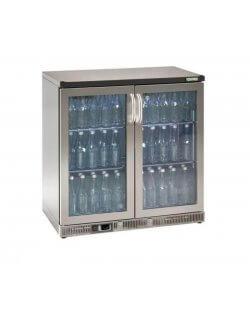 Maxiglass flessenkoeling 250L 90/91 cm- chroomstaal