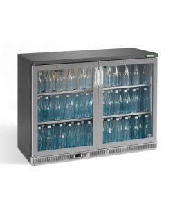Maxiglass flessenkoeling 275L 90/91 cm- chroomstaal