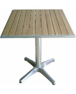 Vierkante tafel met essenhouten blad