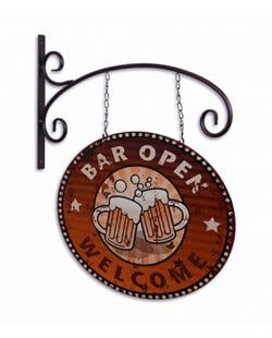 Reclamebord bar open