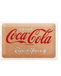 Drink Coca-Cola refresh yourself reclamebord