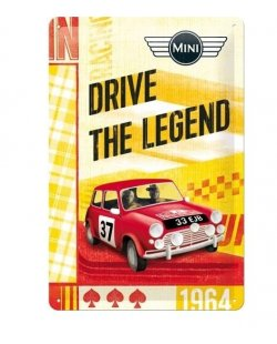Drive the legend Mini reclamebord