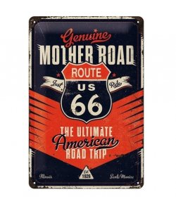 Mother road route 66 reclamebord