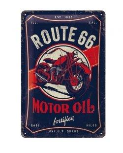 Route 66 motor oil reclamebord