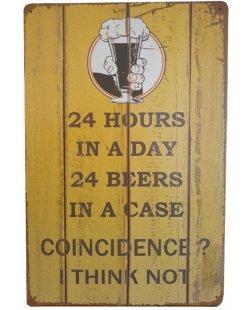 24 hours 24 beer Reclamebord