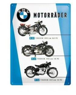 BMW Motorrader Chart reclamebord