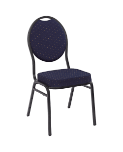Stapelbare stackchair stoel blauw