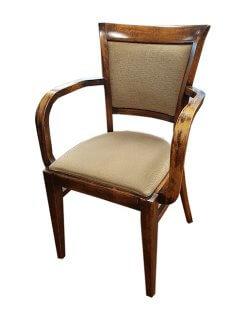 Occasion - Restaurantstoel met armleuning stapelbaar 60x op voorraad
