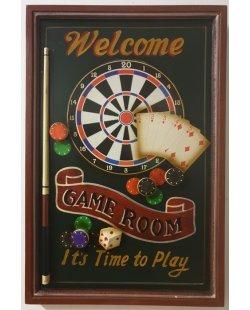 Gameroom houten pubbord