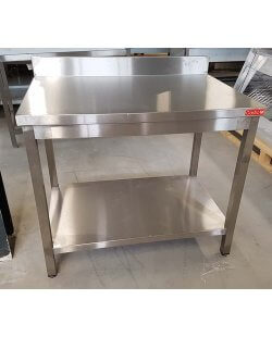 Magazijn opruiming:RVS Gastro M werktafel Afm. 100x700x900mm