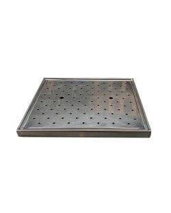 Occasion - Glazenblad 60x50 cm met afvoergat