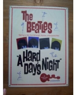 The Beatles: A hard days night metalen pubbord