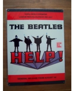 The Beatles: Help - metalen pubbord
