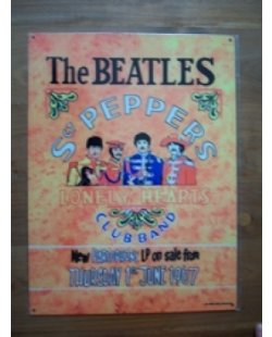 The Beatles St. Peppers metalen pubbord