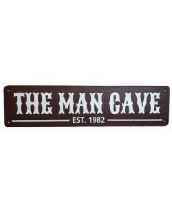 The man cave est. 1982 reclamebord